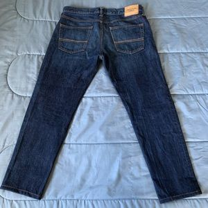Abercrombie & Fitch Jeans - A&F Classic Taper 100% Cotton Darkwash Jeans EUC